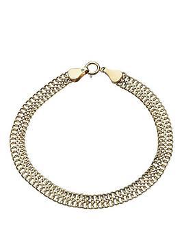 love-gold-9-carat-yellow-gold-double-row-fancy-bracelet