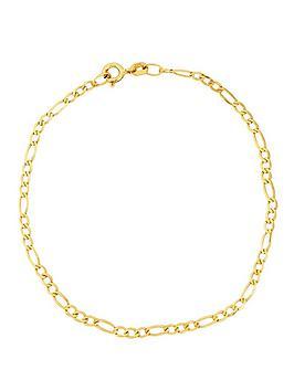 love-gold-9-carat-yellow-gold-solid-diamond-cut-figaro-bracelet-725in
