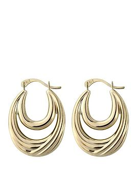 love-gold-9-carat-yellow-gold-double-creole-earrings