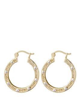 keepsafe-yellow-bronze-engraved-mum-earrings-with-white-rhodium-heart-highlights