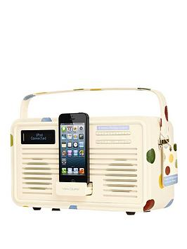view-quest-emma-bridgewater-retro-dab-radio-with-lightning-dock-polka-dot