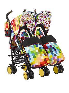cosatto-supa-dupa-pixelate-twin-stroller