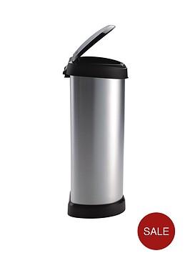 curver-40-litre-deco-bin-silver