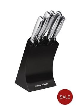 morphy-richards-knife-block-5-piece-black