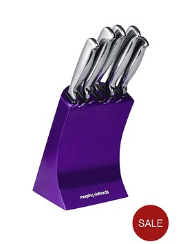 morphy-richards-knife-block-5-piece-purple