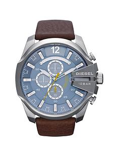 diesel-mega-chief-brown-leather-strap-mens-watch