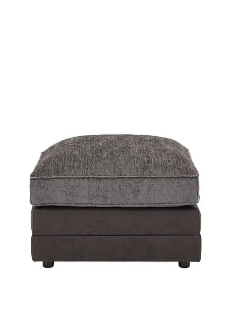 gatsby-chenille-and-faux-snakeskin-footstool