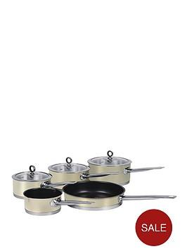 morphy-richards-5-piece-pan-set-cream