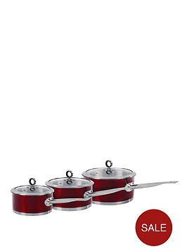 morphy-richards-3-piece-pan-set-red