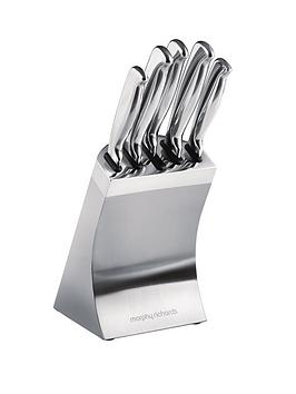morphy-richards-5-piece-knife-block-stainless-steel