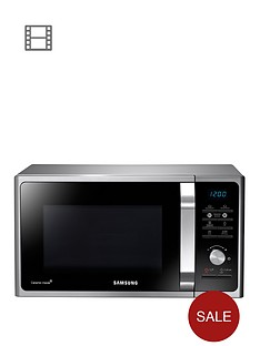 samsung-ms23f301taseu-23-litre-800-watt-solo-microwave-with-2-year-samsung-parts-and-labour-warranty-silver