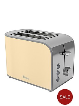 swan-st17020cn-retro-2-slice-toaster-cream