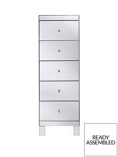 parisian-ready-assembled-mirrored-tall-5-drawer-chest