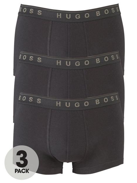 boss-3-pack-of-bodywear-core-trunks-black