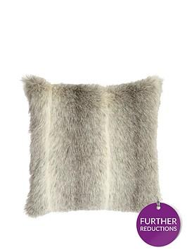 husky-faux-fur-cushion-grey