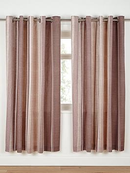 Curtains Ideas chocolate brown tab top curtains : Century Spot and Stripe Tab Top Curtains - Chocolate ...