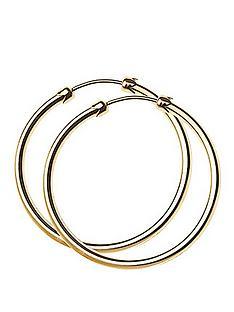 love-gold-9-carat-yellow-gold-26-mm-plain-capped-tube-hoop-earrings