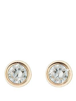 love-gem-9-carat-yellow-gold-5-mm-round-cubic-zirconia-rubover-stud-earrings