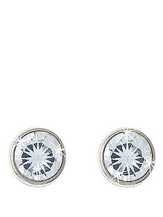 love-gem-9-carat-white-gold-5-mm-round-white-cubic-zirconia-rubover-stud-earrings
