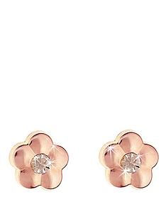love-gold-9-carat-rose-gold-flower-stud-earrings-with-peach-crystal-centre