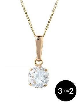 love-gem-9-carat-yellow-gold-6-mm-round-white-cubic-zirconia-pendant