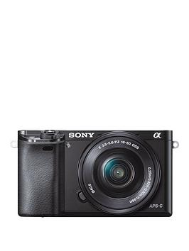 sony-ilce6000-243-megapixel-interchangeable-lens-digital-camera-with-selp1650-lens-kit-black
