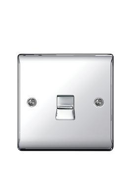british-general-electrical-raised-telephone-socket-point-polished-chrome