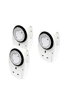 masterplug-24-hour-mechanical-timer-triple-pack