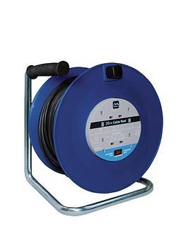 masterplug-13-amp-extension-cord-4-sockets-open-reel-30-m