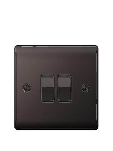 british-general-electrical-raised-2g-2-way-switch-black-nickel