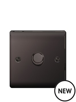 british-general-electrical-raised-1g-dimmer-switch-black-nickel