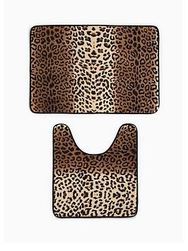 leopard-print-memory-foam-bathmat-and-pedestal-set
