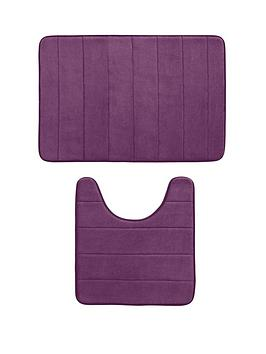 stripe-memory-foam-bathmat-and-pedestal-set-2-piece-set