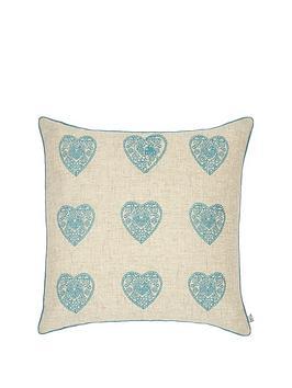 catherine-lansfield-vintage-hearts-cushion-ndashnbspduck-egg