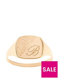 love-gold-personalised-9-carat-yellow-gold-half-engraved-ring
