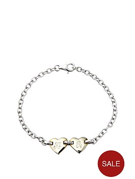 keepsafe-personalised-sterling-silver-double-heart-diamond-set-bracelet
