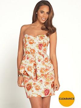 rochelle-humes-floral-jacquard-peplum-mini-dress
