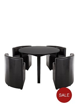 hideaway-dining-table-and-4-chairs-set