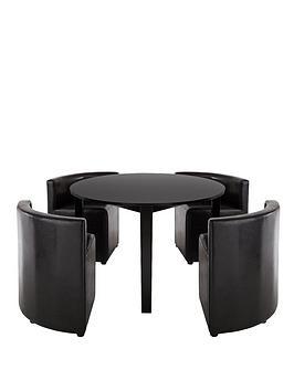 Hideaway 106cm Dining Table 4 Dining Chairs littlewoodsirelandie