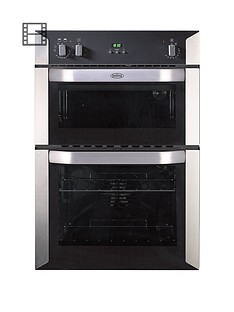 belling-bi90fp-60cm-built-in-double-fan-electric-oven-stainless-steel