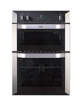 belling-bi90fp-60cm-built-in-double-fan-electric-oven-stainless-steel
