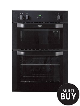 belling-bi90fp-60cm-built-in-double-fan-electric-oven-black
