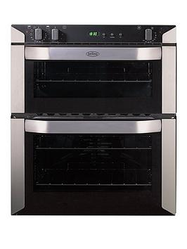 belling-bi70fp-60cm-built-under-double-fan-electric-oven-stainless-steel