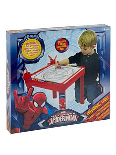 spiderman-colouring-table