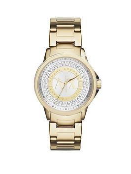 armani-exchange-gold-and-silver-dial-with-gold-ip-plated-bracelet-ladies-watch
