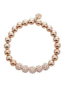lola-and-grace-beaded-rose-gold-plated-stretch-bracelet-with-swarovski-elements