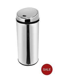 morphy-richards-42-litre-round-sensor-bin-stainless-steel
