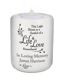 personalised-loving-memory-ceramic-tealight-holder