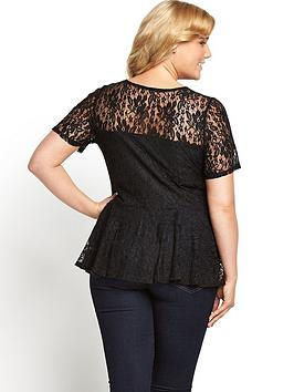V Peplum Top Very Curve by Lace Buy Cheap 2018 CRKLUX