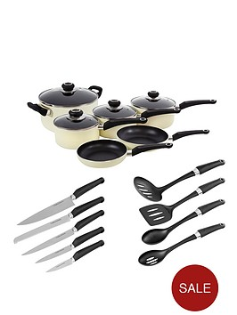 morphy-richards-6-piece-pan-set-with-10-piece-tool-set-cream